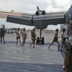 Prisoners boarding Caribou