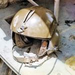 Shrapnel Stuck in Helmet
